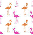 pink flamingo seamless pattern vector image