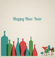 Retro New Year card vector image