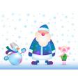 russian santa claus snowman piggy vector image