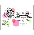 save date invitation template vector image vector image