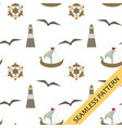seamless pattern with a nautical theme vector image