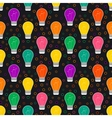 seamless pattern with light bulb in flat vector image vector image