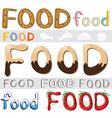 Set of food artwork vector image vector image