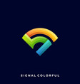 signal colorful design template vector image