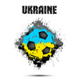 soccer ball in the color of ukraine vector image vector image