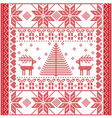 Square pattern with reindeers vector image vector image
