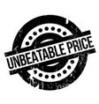 unbeatable price rubber stamp vector image vector image