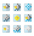 weather 8bit icons vector image