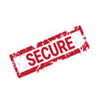 secure stamp red grunge sticker or badge isolated vector image