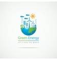 solar panels and wind turbines vector image