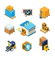 Warehouse and Logistics Equipment Icon Set vector image