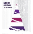 Abstract Christmas card with a tree in purple vector image vector image