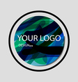 abstract colorful background logo that overlap and vector image vector image