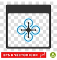 Air Copter Calendar Page Eps Icon vector image vector image