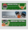 American football banners vector image vector image