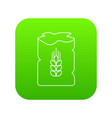 bag wheat icon green vector image vector image