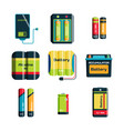 battery energy tool electricity charge fuel vector image vector image