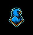 blue bird in frame vector image vector image