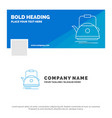 blue business logo template for tea kettle teapot vector image