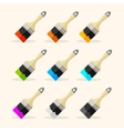 brush rainbow set vector image vector image