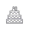 cake for lovers line icon concept cake for lovers vector image vector image