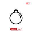 christmas ball icon vector image vector image