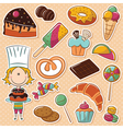 confectioner vector image vector image