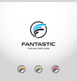 creative letter f logo design template vector image