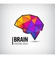 crystal brain logo icon vector image vector image