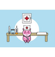 cute medical cat vector image vector image