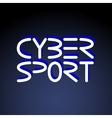 Cyber sport phrase vector image vector image