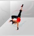 dancegirl vector image vector image