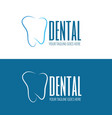 dental health clinic concept logo template vector image vector image