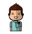 doctor avatar character isolated icon vector image