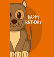 dog cute birthday card vector image vector image