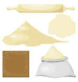 Dough Flour vector image