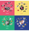 Entertainment Compositions Or Icon Set vector image vector image