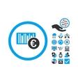 Euro Barcode Flat Icon With Bonus