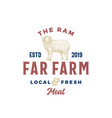 far meat farm abstract sign symbol or vector image vector image