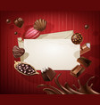 frame for the title with a pattern of chocolates vector image vector image