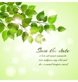 Fresh spring Save The Date card vector image vector image