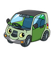 funny small car with eyes vector image vector image