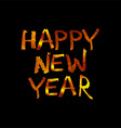 Golden inscription merry happy new year vector image vector image