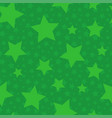 green seamless pattern with stars vector image vector image