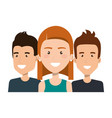 group people young portrait together friends vector image vector image