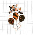 halloween greeting cardflat vector image vector image