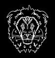 hand-drawn pencil graphics lion vector image