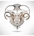 head goat symbol of 2015 year vector image