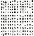 Japanese hieroglyphs background vector image