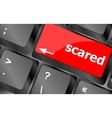 Keyboard with hot key - scared word vector image vector image